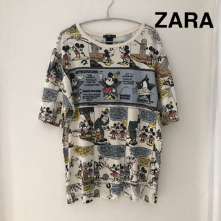 ZARA - ZARAザラディズニーコラボTシャツコミック柄希少品