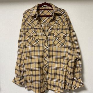 GYDA - GYDA チェックオーバーサイズシャツ