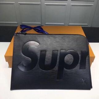 Supreme - 黑 シュプリーム クラッチバッグ