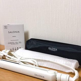 SALONIA ストレートアイロン ヘアーアイロン ダブルイオン SL-004S