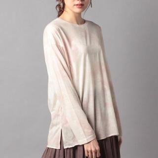 ナイスクラップ(NICE CLAUP)の新品✨未使用、タグ付き❣️ピンク タイダイ柄長袖Tシャツ(Tシャツ(長袖/七分))