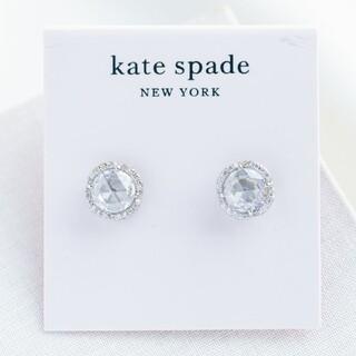 kate spade new york - 【新品♠本物】ケイトスペード 一粒ビジューピアス シルバー