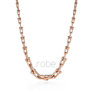 298.graduated link necklace【rose】
