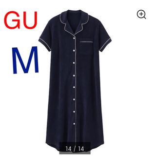 GU - GU × SABON  パイルパジャマ ワンピース (半袖) ネイビー