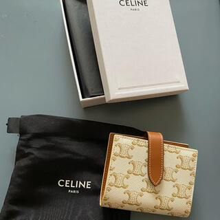 celine - CELINE セリーヌ スモール ストラップウォレット トリオンフキャンバス