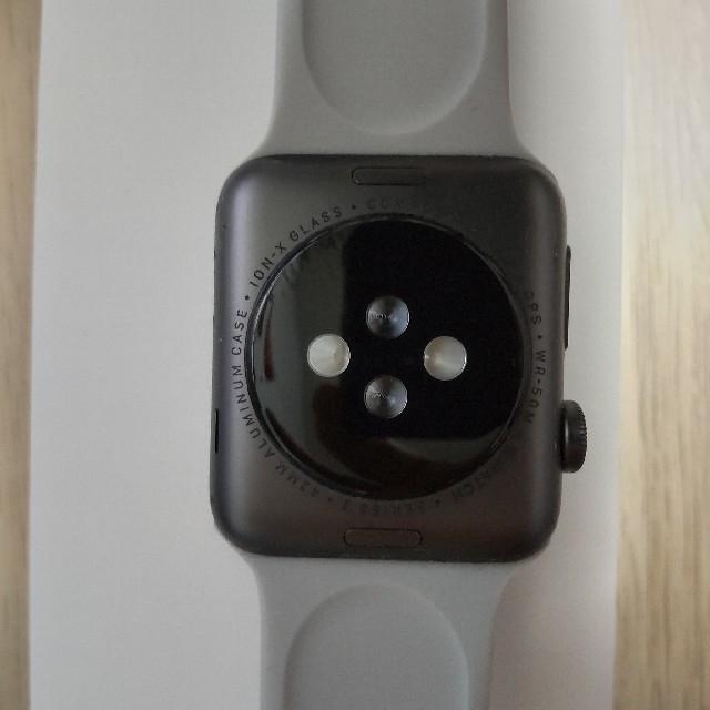 Apple Watch(アップルウォッチ)の☆AppleWatch3 42mmスペースグレイ☆ メンズの時計(腕時計(デジタル))の商品写真
