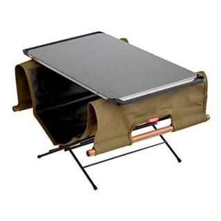 ユニフレーム(UNIFLAME)のハングアウトファイヤーサイドテーブルログキャリーステンレストップセット(テーブル/チェア)