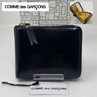 COMME des GARCONS - COMME des GARCONS コムデギャルソン 二つ折り財布 黒 ゴールド