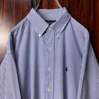Ralph Lauren - ラルフローレン 刺繍ロゴ BDシャツ チェック柄 L相当 ビッグシルエット