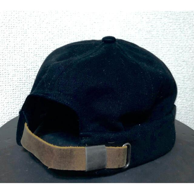 ロールキャップ フィッシャーマンキャップ ブラック メンズの帽子(キャップ)の商品写真