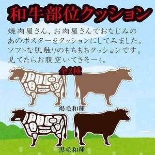 和牛部位もちもちクッション