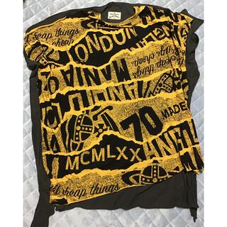 Vivienne Westwood - ヴィヴィアンウエストウッド ポンチョ オーブ総柄 コットン100% 黄色