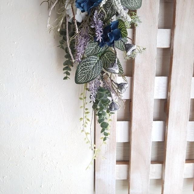 専用*アジサイ&デージー フェイクスワッグ ハンドメイドのフラワー/ガーデン(その他)の商品写真
