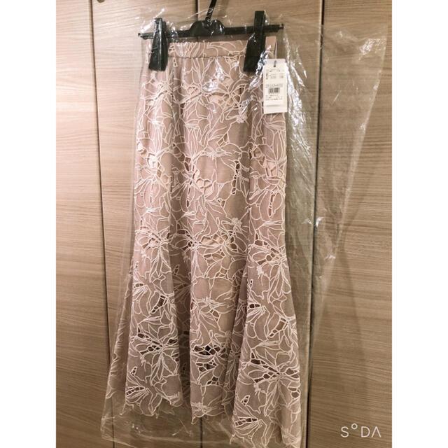 snidel(スナイデル)のSNIDEL スナイデル  カッティングレースマーメイドスカート レディースのスカート(ロングスカート)の商品写真