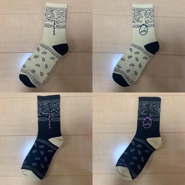 Supreme(シュプリーム)の☆大人気☆トラヴィススコット靴下☆ソックス トラビス 4足セット フリーサイズ メンズのレッグウェア(ソックス)の商品写真