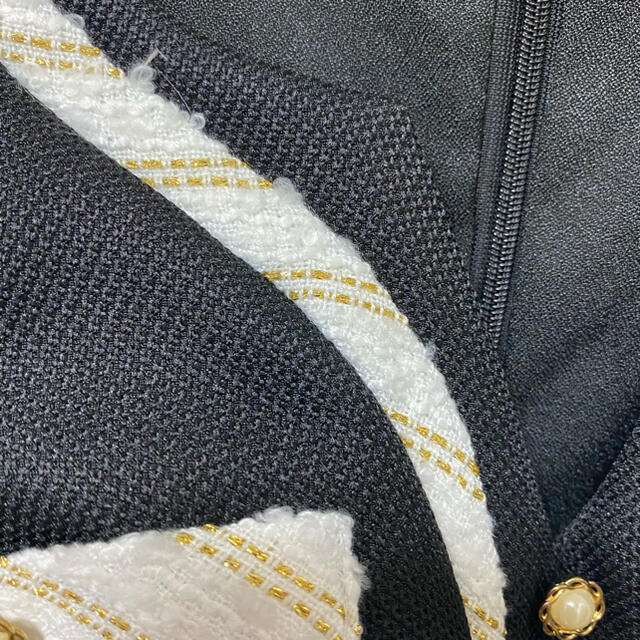 JEWELS(ジュエルズ)のジュエルズ ミニワンピース ミニドレス  新品未使用 CHANEL 風 レディースのワンピース(ミニワンピース)の商品写真