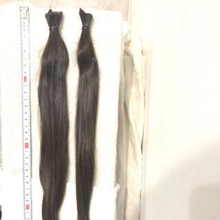 日本人 6歳 髪束40cm、48g 髪の毛 女性ウィッグ  12(ウィッグ)