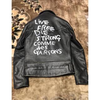 コムデギャルソン(COMME des GARCONS)のCOMME des GARCONS × Lewis Leathers ライダース(レザージャケット)