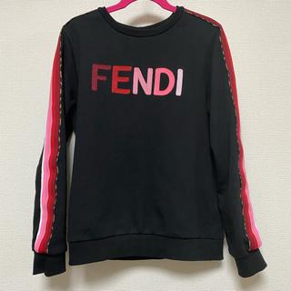 フェンディ(FENDI)の美品 フェンディ  トレーナー キッズ12A ブラック(トレーナー/スウェット)