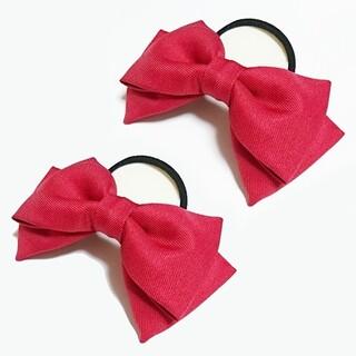 「ラブライブ!」矢澤にこ 赤色リボン 2個 髪飾り コスプレ衣装小物 赤 コミケ(アクセサリー)