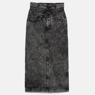 ZARA - ZARA♡ザラ♡ケミカルデニムタイトスカート♡ハイウエスト♡XS♡未使用♡
