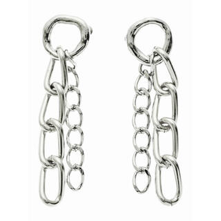 sacai - ラムシェ Chain Pierced Earrings / silver