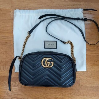 Gucci - GUCCI GG マーモント チェーンショルダー