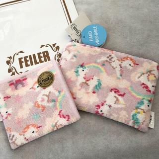 FEILER - 【お取置き中】FEILER 新品ポーチ&ハンカチ