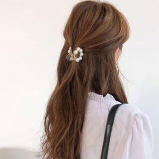 【新品未使用】韓国 パール ヘアクリップ バレッタ ♡♡ 4cm ♡♡④