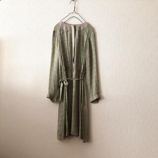 Drawer - 【新品】折り鶴柄 シルクワンピース ドレス