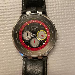 D&G - D&G 腕時計 ストップウォッチ 革ベルト