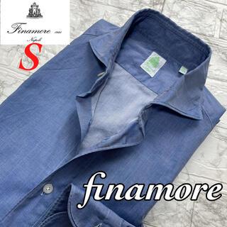 FINAMORE - 人気◆finamore フィナモレ コットンシャツ シャンブレー / S 38