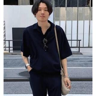 サンシー(SUNSEA)のSUNSEA  SNM blue  POLO ネイビー サイズ3(ポロシャツ)