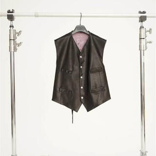 JOHN LAWRENCE SULLIVAN - MAGLIANO LEATHER VEST JACKET