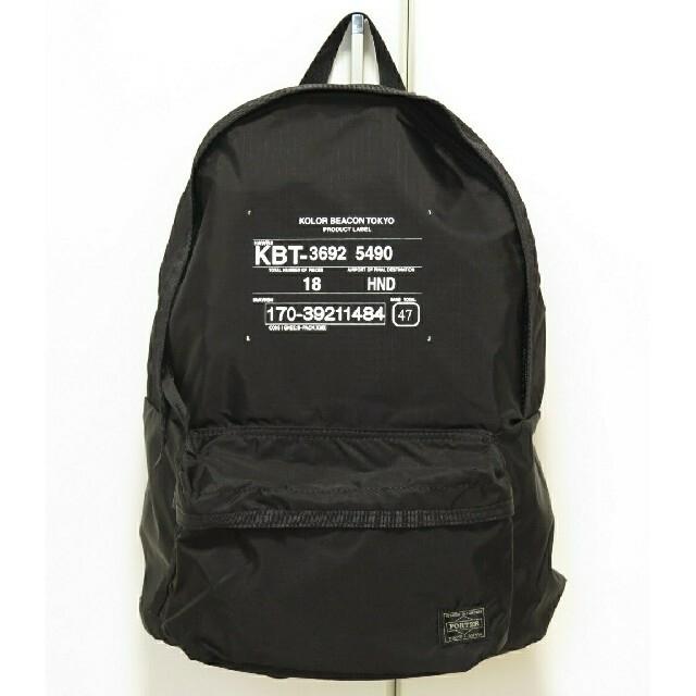 kolor(カラー)の新品タグ付kolor BEACONxPORTERコラボリュックポーター メンズのバッグ(バッグパック/リュック)の商品写真