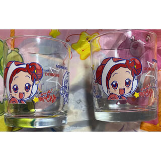 BANDAI - 最終価格 美品♡も〜っと!おジャ魔女どれみ グラス 2個セット゜・*:..。.: