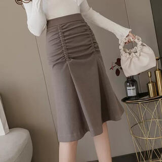 Lily Brown - フレアデザインミディアム丈スカート