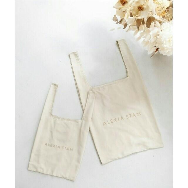 ALEXIA STAM(アリシアスタン)の【新品】ALEXIASTAM エコフレンドリーバッグ Mサイズ単品 エコバッグ  レディースのバッグ(トートバッグ)の商品写真