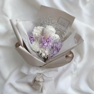 残りわずか!エレガント ドライフラワー ラッピングブーケ 花束 ブーケ 母の日(ドライフラワー)