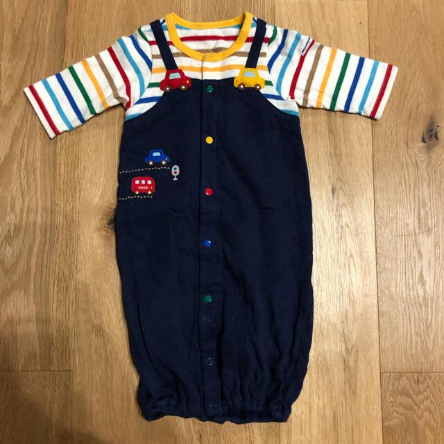 mikihouse(ミキハウス)のミキハウス ロンパース 2way 50〜60 キッズ/ベビー/マタニティのベビー服(~85cm)(ロンパース)の商品写真