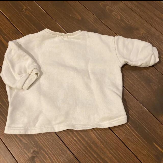 アカチャンホンポ(アカチャンホンポ)のオフホワイト ケーブル柄 トレーナー キッズ/ベビー/マタニティのベビー服(~85cm)(トレーナー)の商品写真