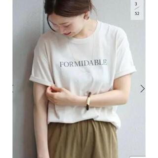 IENA - イエナ FORMIDABLE ロゴプリントTシャツ ナチュラル
