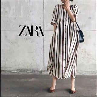 ZARA - ZARA trf  マルチカラーストライプロングワンピース