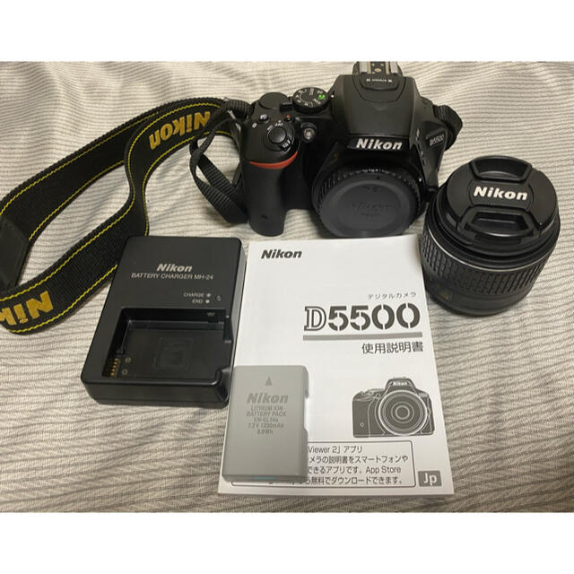 Nikon(ニコン)のNikon D5500 18-55mm GII VR スマホ/家電/カメラのカメラ(デジタル一眼)の商品写真