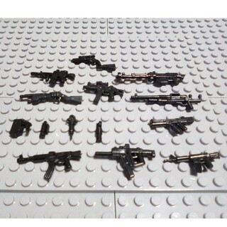 10 互換性 インスタ映え LEGO レゴ ブロック 武器 銃 戦争 プレゼント(ミリタリー)