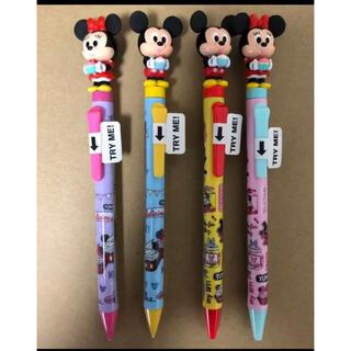 Disney - ディズニーミッキー&ミニー ぴょこぴょこシャープペン ボールペン 4本まとめ売り