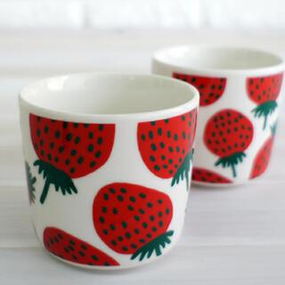 marimekko - マリメッコ marimekko マンシッカ柄 コーヒーカップ 2個セット
