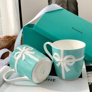 Tiffany & Co. - 【新品未使用】Tiffany ブルーリボン マグカップ ペア