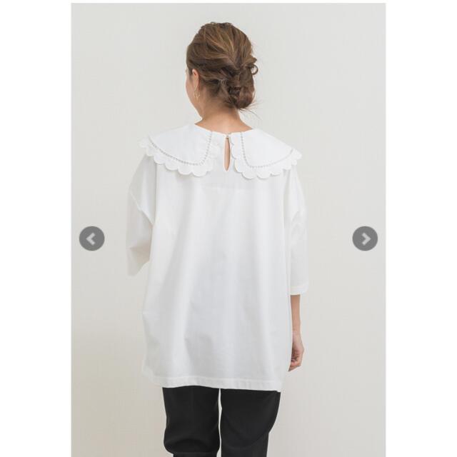 yori♡スカラップカラーカットソー レディースのトップス(カットソー(半袖/袖なし))の商品写真