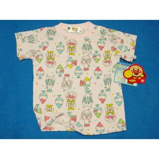 アンパンマン - 新品 90cm アンパンマン 蓄光かき氷半袖Tシャツ ピンク